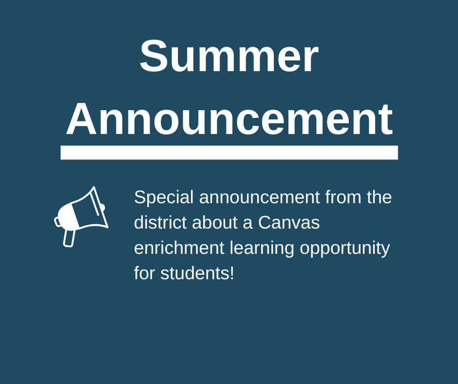 Summer Learning Announcement