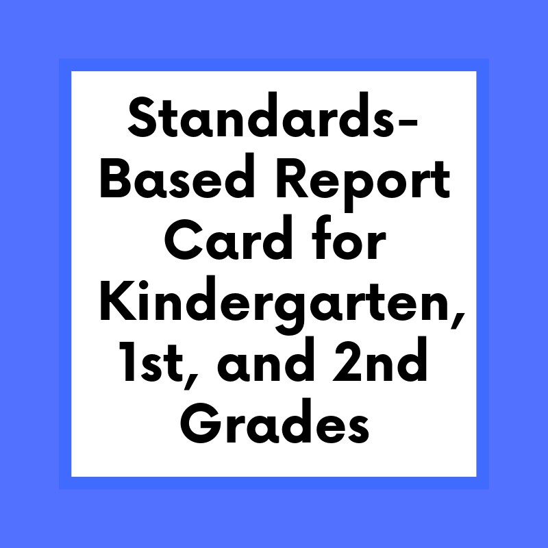 standards based report card sign