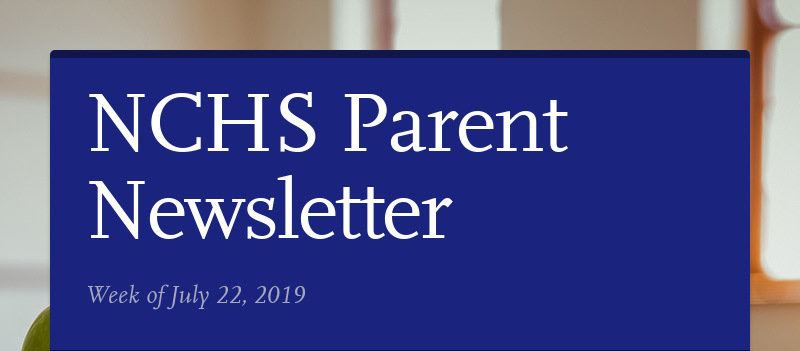 NCHS Parent Newsletter