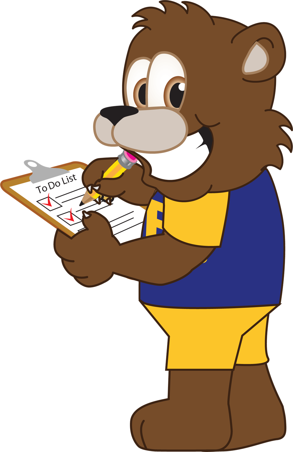 Bear holding Clipboard