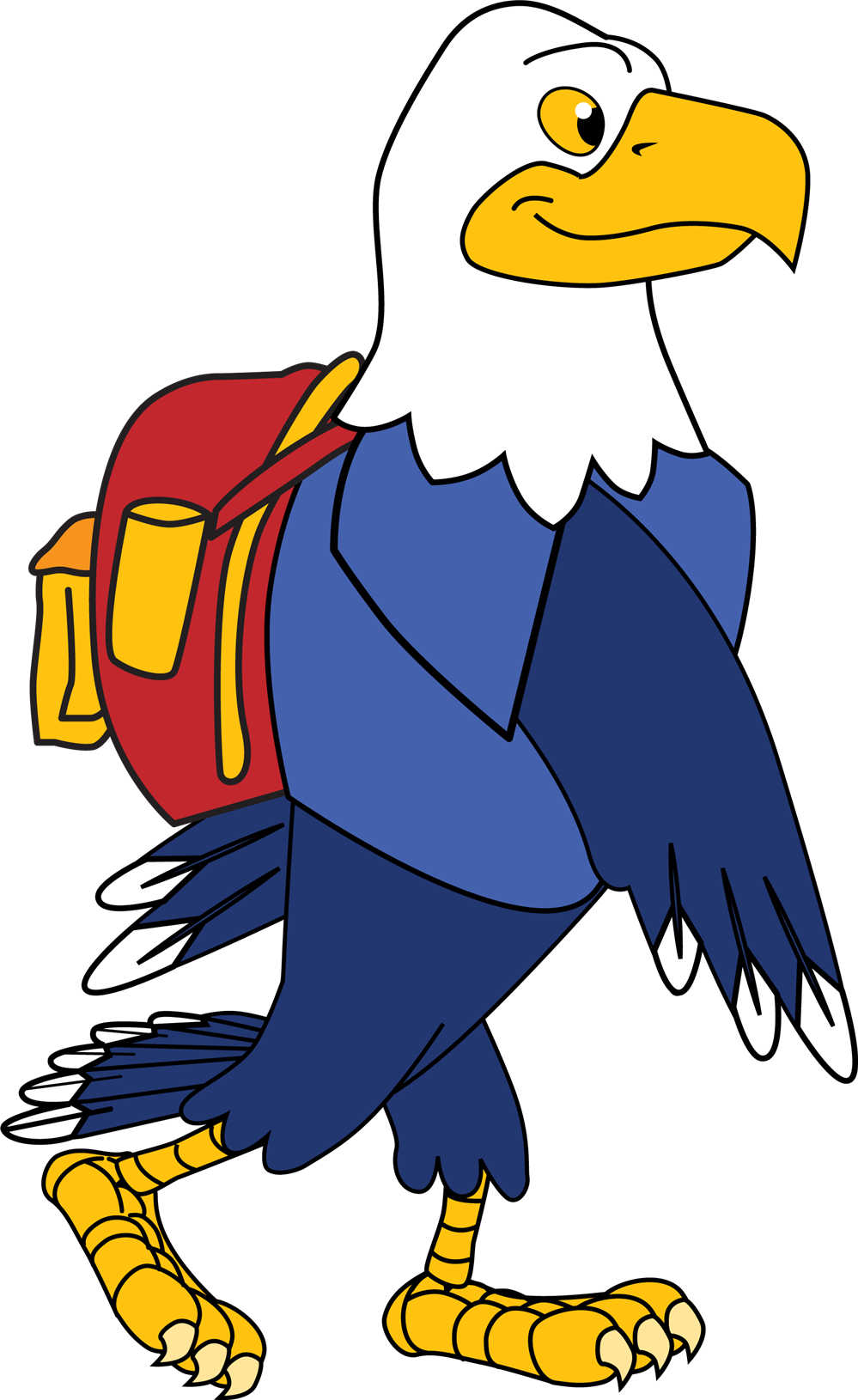 Eagle with Backpack