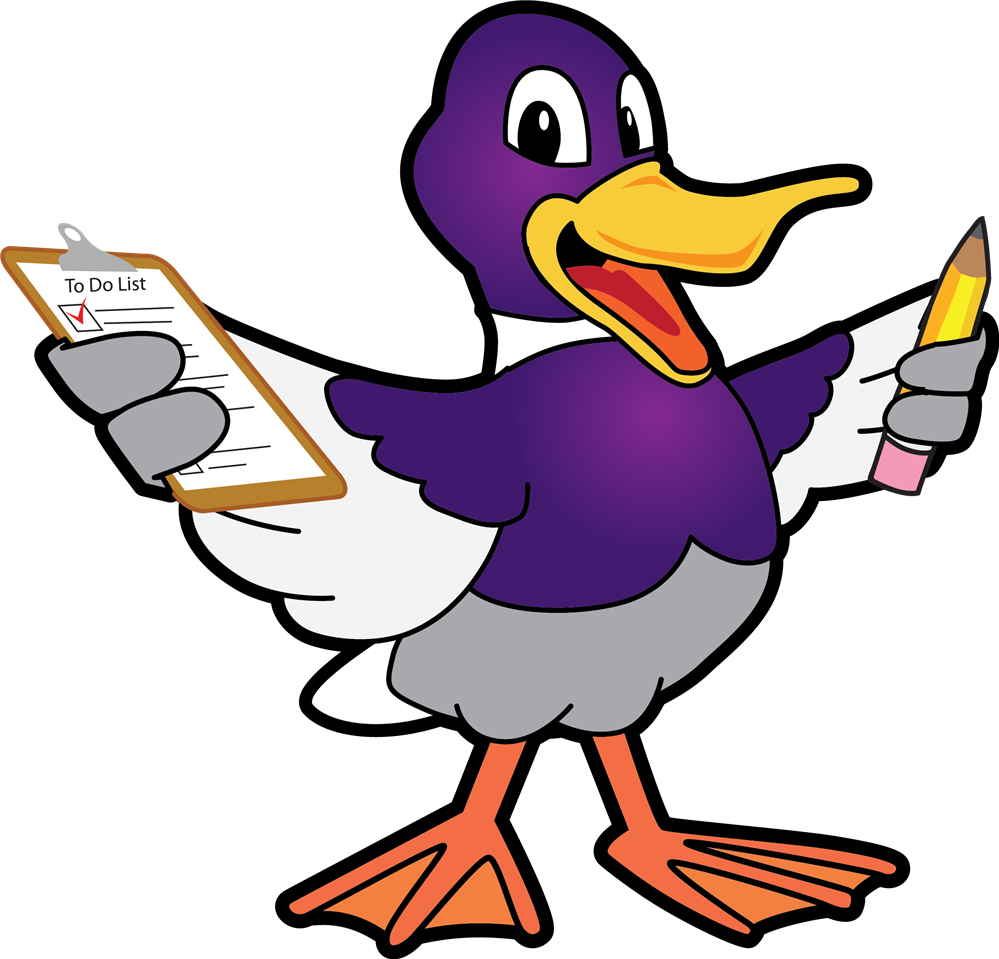 Duck with clipboard