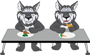 Timberwolves eating