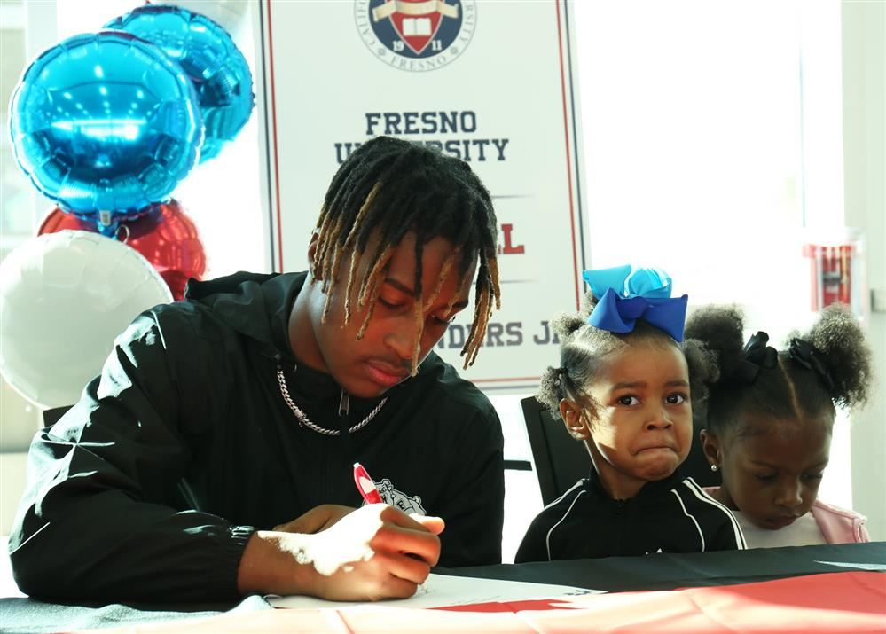 student at signing day