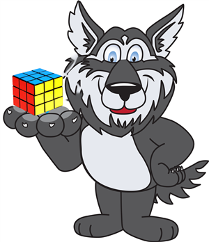 Titan with Rubik Cube